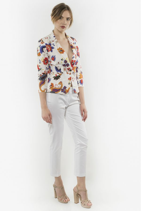 Short jacket with cropped sleeves