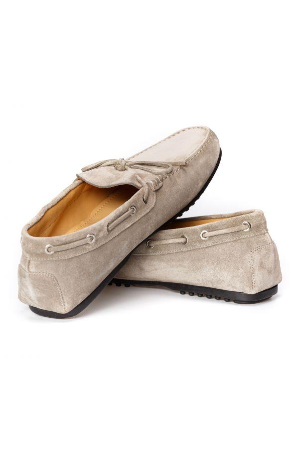 Suede grey men's loafers