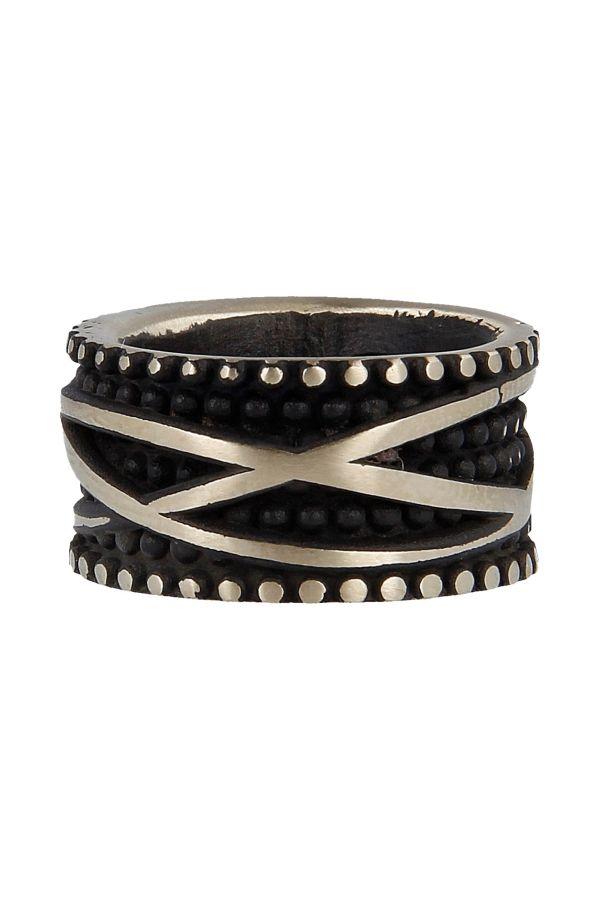 Fascia Concava Black Vintage Borchie E Filo