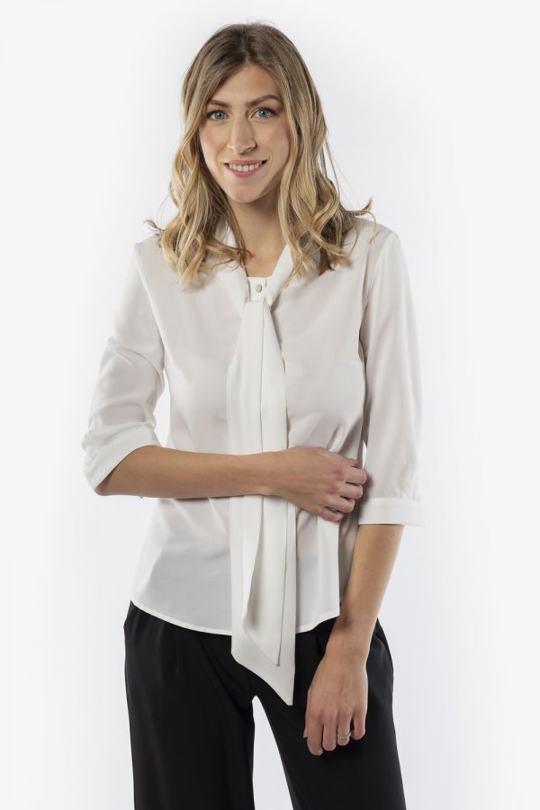 White shirt with a decorative collar