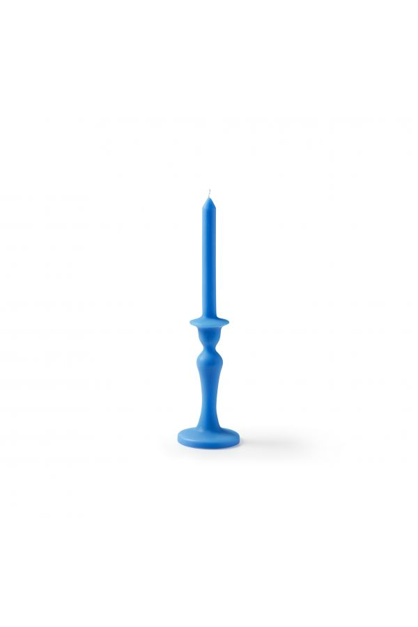 Blue vintage candle