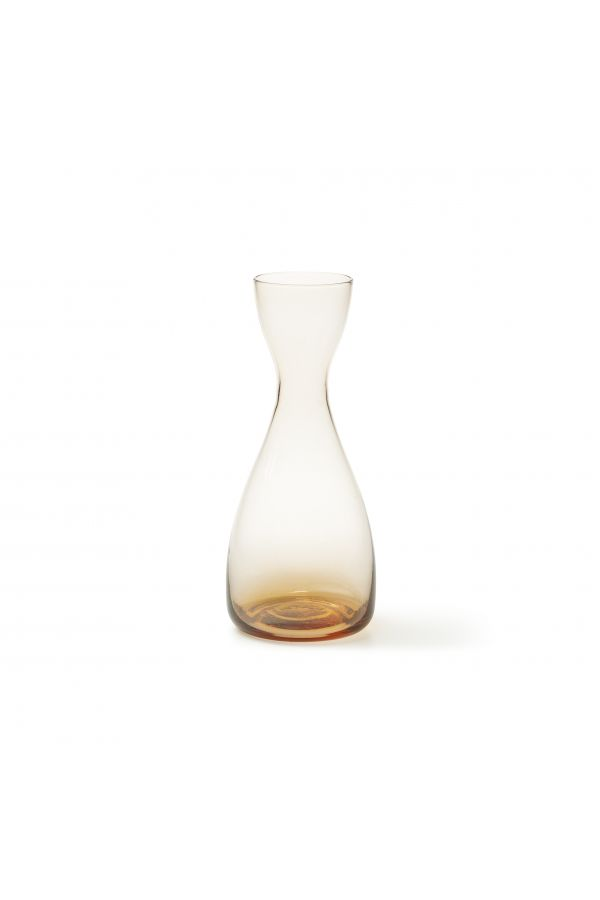 Orange glass vase