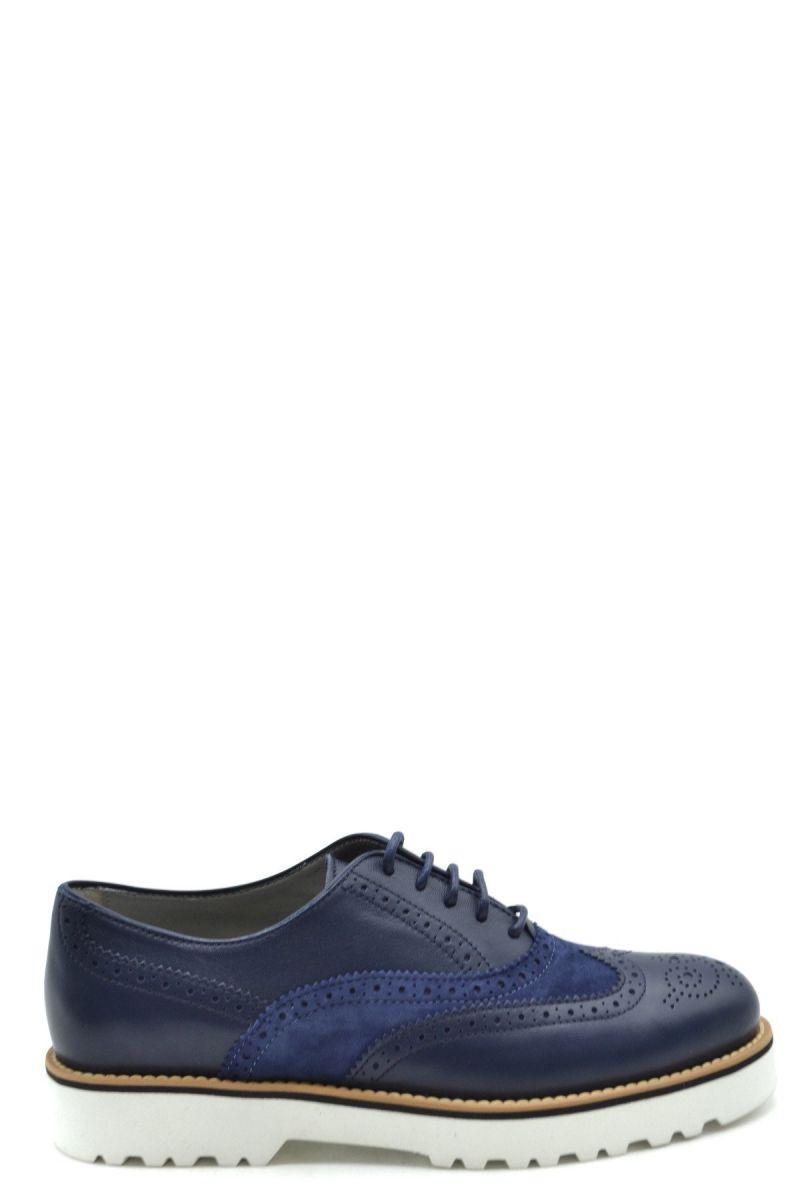Hogan Women Lace Ups Shoes - WH6-BC38152-EPT9675-blu - blue