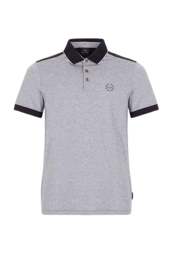 Armani Exchange Koszulka Polo Mężczyzna - WH7-POLO_BICOLOR_9 - Czarny