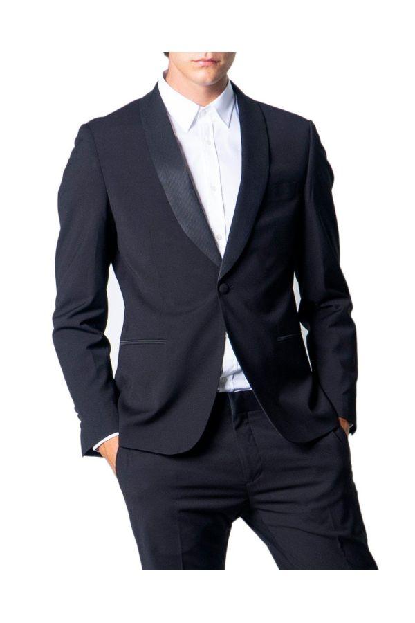 Antony Morato Giacca Uomo - Slim Blanche rever - nero
