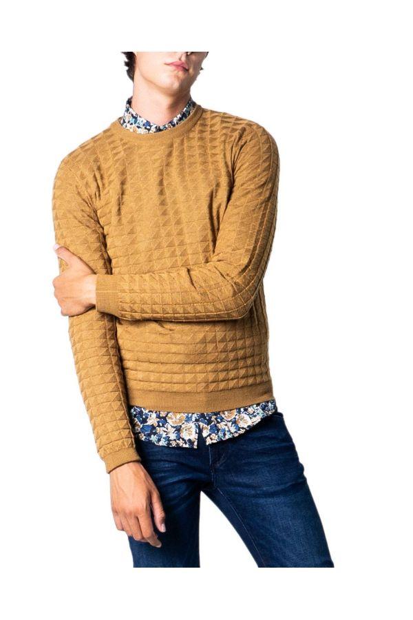 Antony Morato Men Knitwear - Girocollo Jacquard - beige