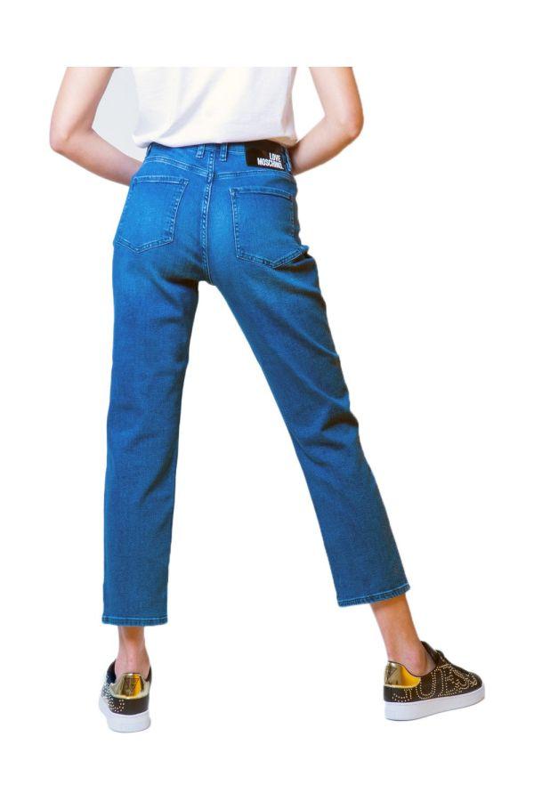 Love Moschino  Women Jeans - 5PKT RICAMO PRETTY IN LOVE - blue